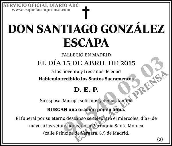 Santiago González Escapa